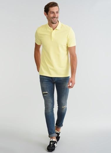 People By Fabrika Polo Yaka Tişört Sarı